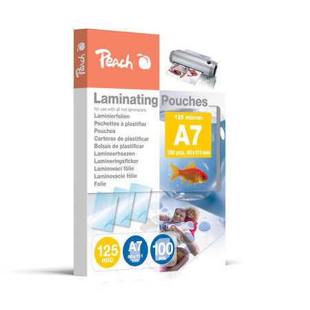 PP525-05 | Peach Laminovací kapsy A7 (80x111mm) - 125 μm (50/75)