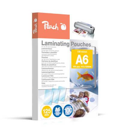 PP525-04 | Peach Laminovací kapsy A6 (111x154mm) - 125 μm (50/75)