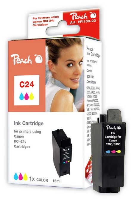 BULK Canon BCI-24, BCI-21 inkoustová náplň barevná (color)