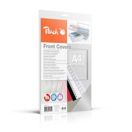 PB100-15 | Peach Přední desky pro kroužkovou vazbu A4 průhledné - 0,18mm
