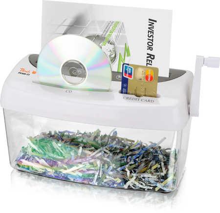 Peach ruční skartovač PS300-21 papír+CD/DVD+kreditky