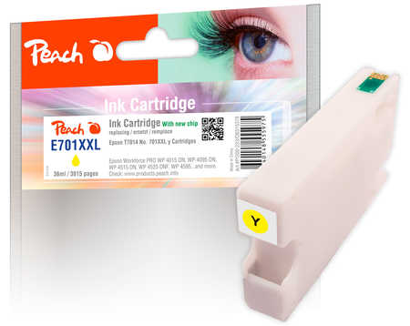 PI200-223   Inkoustová náplň Peach kompatibilní s T7014, žlutá (yellow)