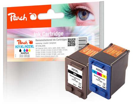 PI300-402 | set Peach HP 21 (C9351AE), černá (black) + HP 22 (C9352AE), barevná (color)