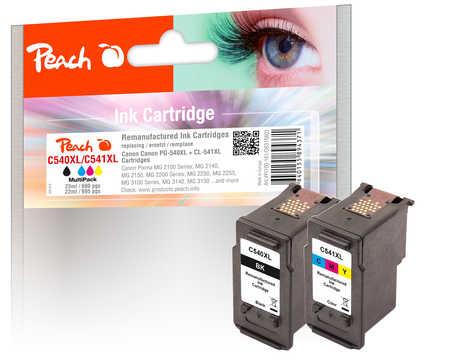 PI100-161 | Peach Combi-pack Canon PG-540XL černá(black) + CL-541XL barevná(color), kompatibilní s PG-540, CL-541