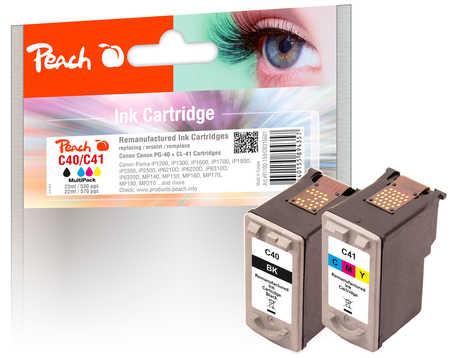 PI100-159 | Peach CombiPack Canon PG-40 černá(black) + CL-41 barevná(color)