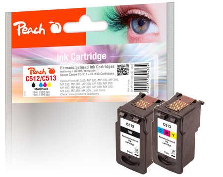 PI100-160 | Peach Multi-Pack Canon PG-512 černá(black) + CL-513 barevná(color), REM, OEM