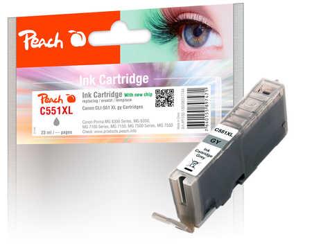 PI100-180 | Peach Canon CLI-551GY - kompatibilní