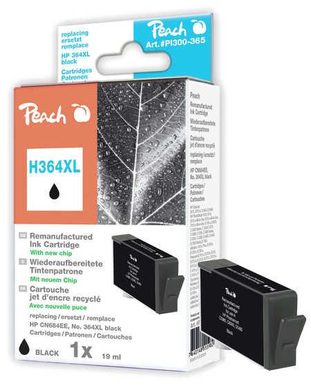 PI300-365 | Peach HP 364XL BK (CN684EE), s čipem, černá (black), REM, NC