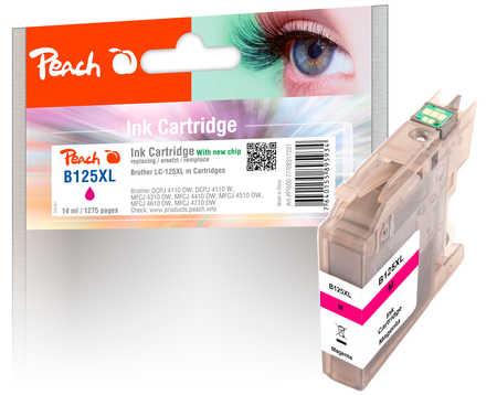 PI500-77 | Peach Inkoustová náplň kompatibilní s Brother LC-125XL purpurová (magenta)