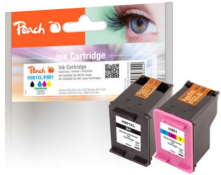PI300-401 | Peach Multi Pack HP 901XL black (CC654AE) + HP 901 color (CC656AE)