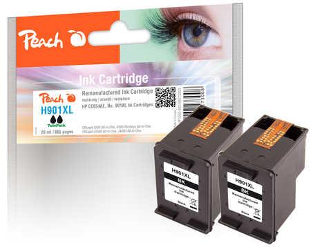 PI300-480 | Peach Twin Pack HP 901XL (CC654AE) inkoustových náplní - černá (black) - 2 ks