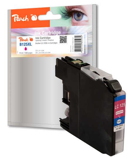 BULK Inkoustová náplň kompatibilní s Brother LC-125XL purpurová (magenta)