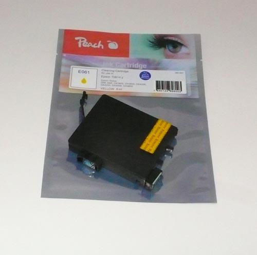 Peach čistící kazeta žlutá, kompatibilní s Epson T0614