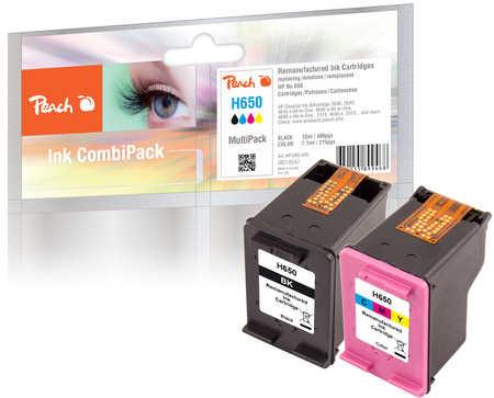 PI300-445 | Peach Sada Combi Pack inkoustových náplní HP 650 (CZ101AE,CZ102AE) černá + barevná