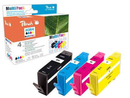 PI300-341 | Peach MultiPack HP 364 sada inkoustových náplní s čipem