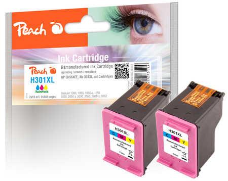 PI300-486 | Peach Sada Twinpack HP 301 XL CH564EE - inkoustová náplň barevná (color), REM, OEM - 2 ks