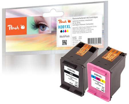 PI300-399 | Peach sada Multipack ink náplní kompatibilních s HP 301 XL černá + HP 301 XL barevná, REM, OEM