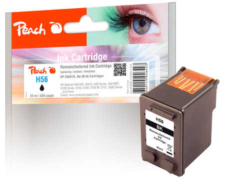 PI300-12 | Peach HP C6656A, černá - kompatibilní